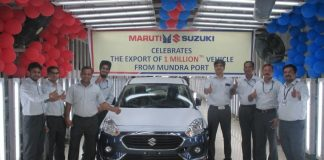 one-millionth-maruti-suzuki-car-exported-from-gujarat-mundra-port