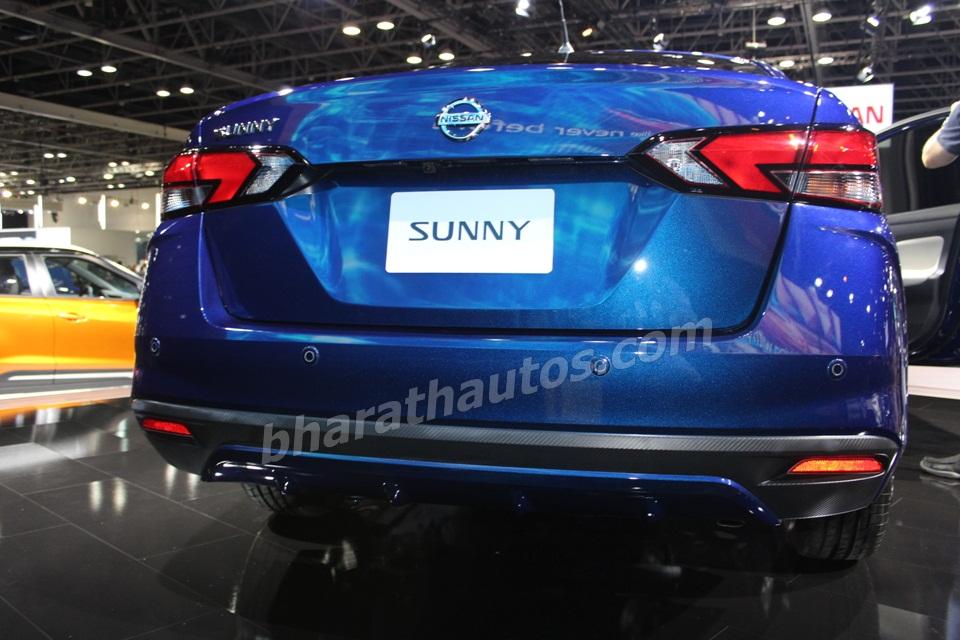 2020 nissan sunny displayed at dubai motor show